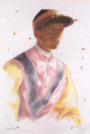 Jockey Pastel on Marigold Paper