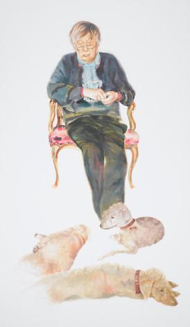 Craigie I - Watercolour Portrait of Craigie Aitchison R.A.