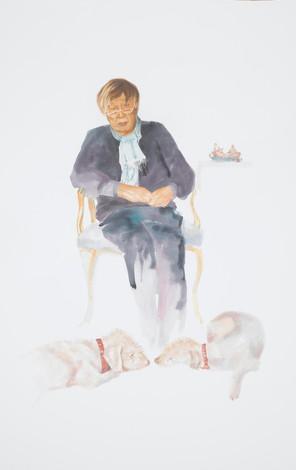 Craigie II - Watercolour Portrait of Craigie Aitchison R.A.