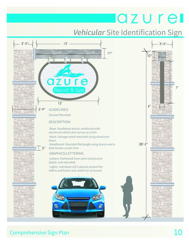 Vehicular Site Identification Sign