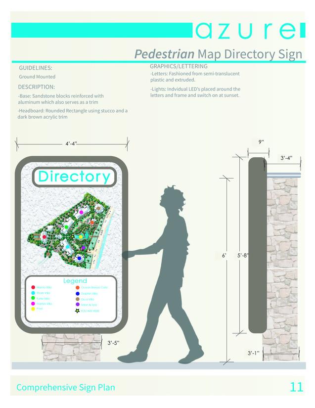 Pedestrian Map Directory Sign
