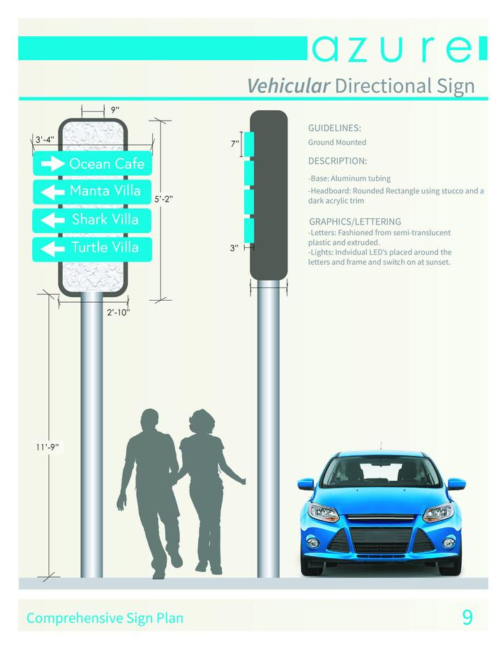 Vehicular Directional Sign