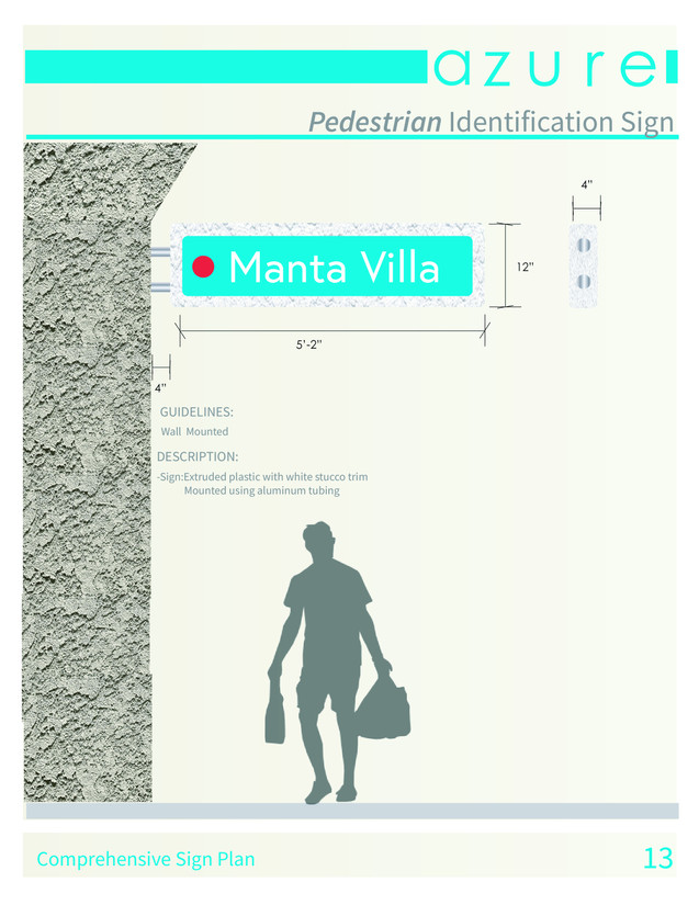 Pedestrian Identification Sign