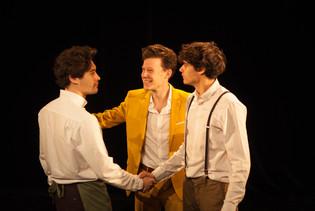 Stéphane Piller, Baptiste Herout et Ethan Oliel.