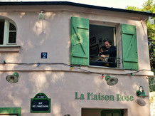Baptiste Herout (Colin) et Lou Tilly (Chloé) à La Maison Rose, Paris.