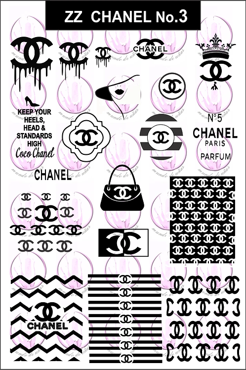 Zz Chanel No3 Mundo De U?as Stamping Plate