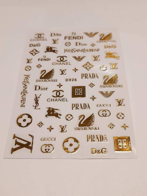 Designer Inspired Stickers 8