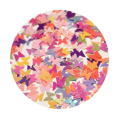 Colourful Butterflies Glitter Pot