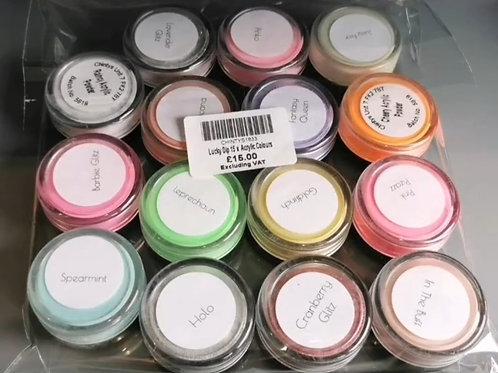Lucky Dip 15 x  Acrylic Colours