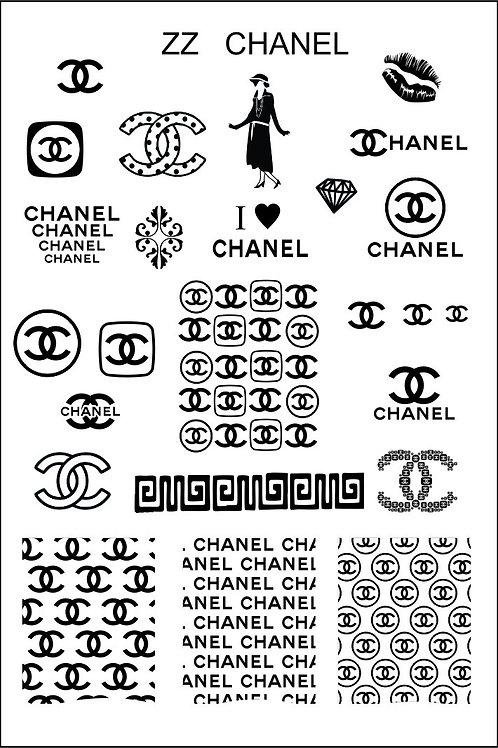 ZZ Chanel - Mundo De Unas Stamping Plate