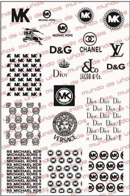 MK Versace Dior YL Chanel Mundo De U?as Stamping Plate