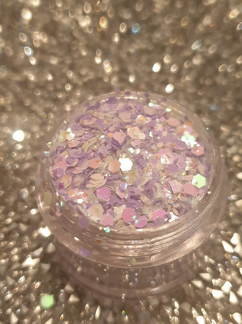 Lilac Clouds Glitter Pot