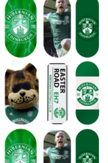 Hibernian Fc Inspired Nail Decals