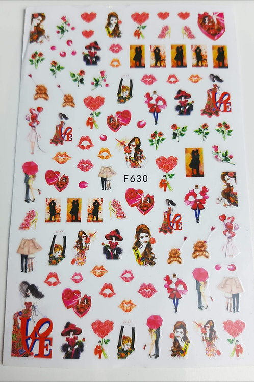 Nail Sticker Sheet F630