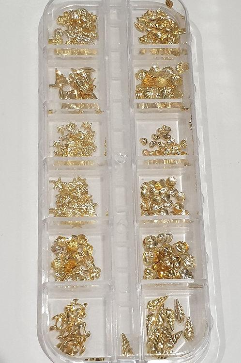 Gold Seaside Shapes Box
