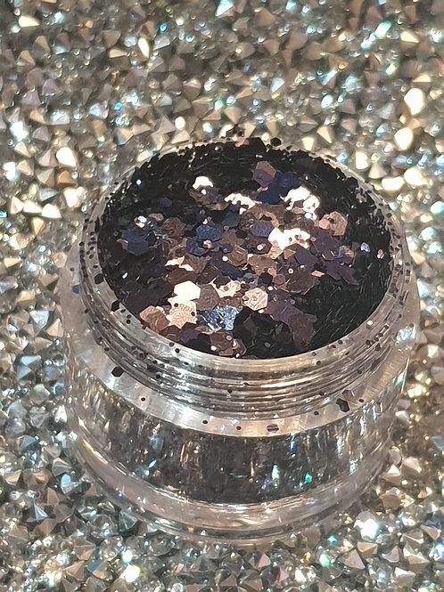 Dark Smoke Glitter Pot