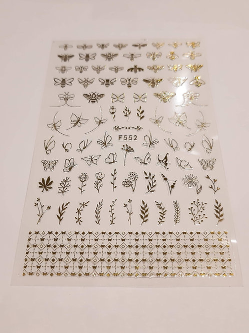 Nail Sticker Sheet F552