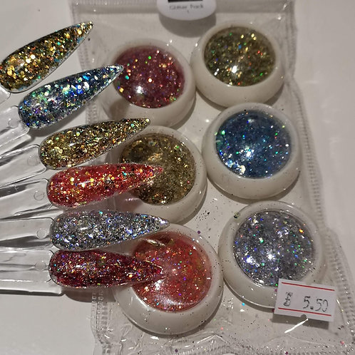 Set Of 6 Glitters- Pack 1
