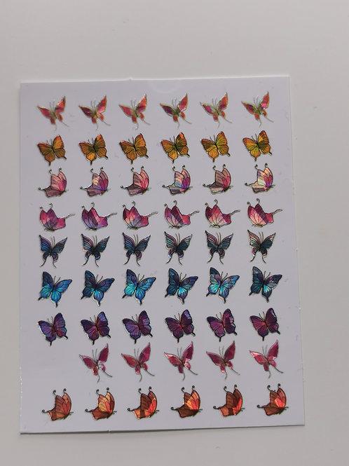 Holo Butterflies Stickers7