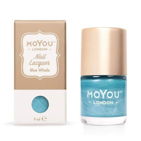 MoYou Premium Stamping Polish-Blue Whale