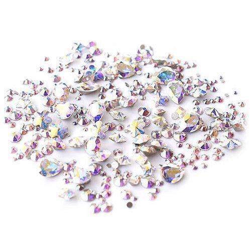Swarovski Crystals Mix - Stone & Flatback Crystal AB (300)