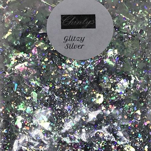Glitzy silver