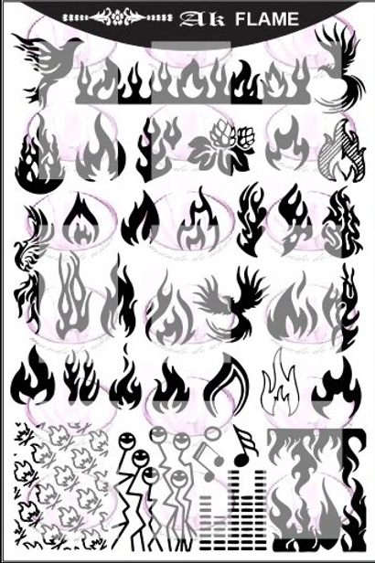 AK Flame Mundo De U?as Stamping Plate