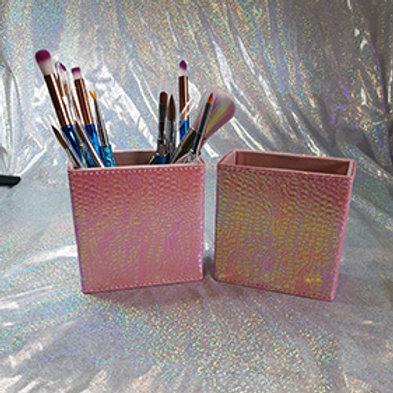 Rectangle Brush Holder Pink