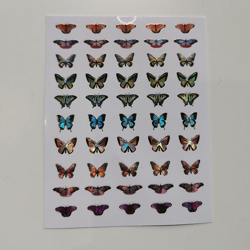 Holo Butterflies Stickers 4