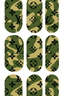Camo LV Inspired Decals