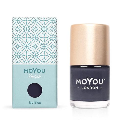 MoYou Premium Stamping Polish- Ivy Blue