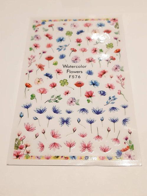 Nail Sticker Sheet F576
