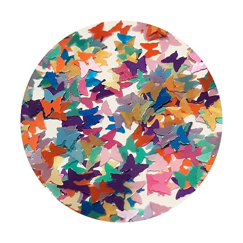 Matte Butterflies Glitter Pot