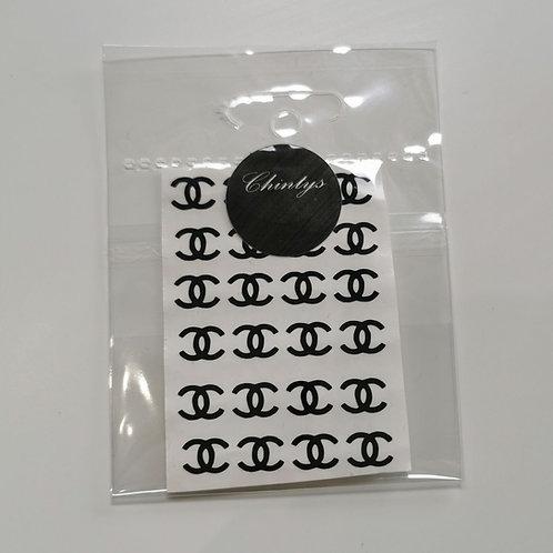 Brand Stickers Black CC