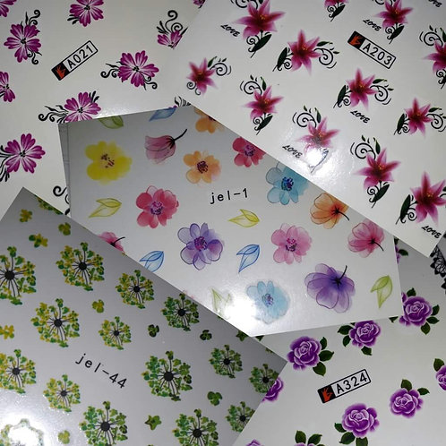 Set of 5 water decal sheets
