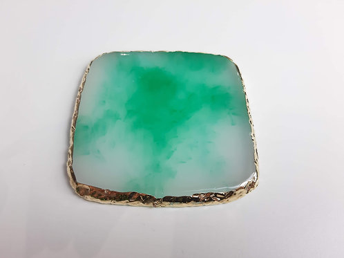 Green Quartz Square Nail Art Pallete