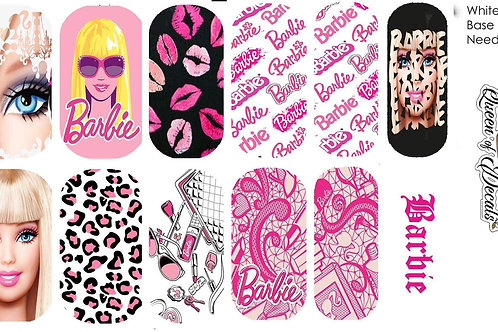 Barbie Style Water Decals