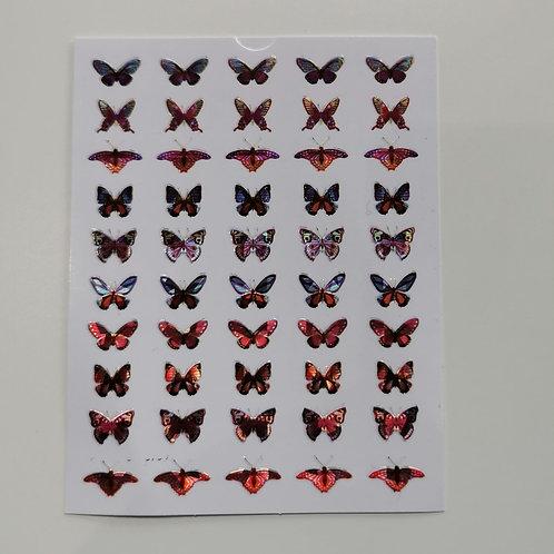 Holo Butterflies Stickers 3