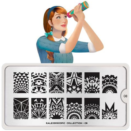 MoYou Stamping Plate- Kaleidoscope 08