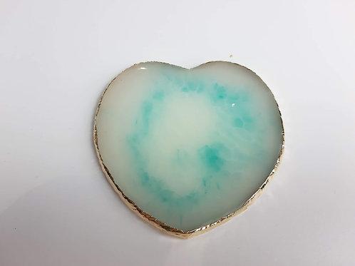 Mint Quartz Heart Nail Art Pallete