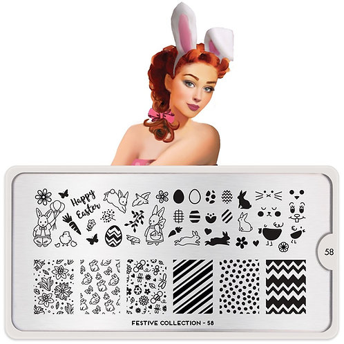 MoYou Stamping Plate- Festive 58 Easter