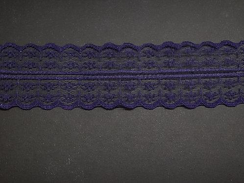 lace strip navy/purple