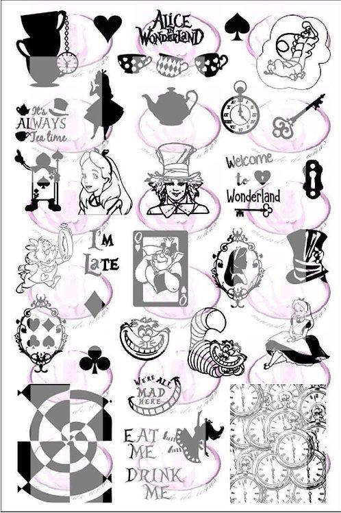 Alice In Wonderland Mundo De U?as Stamping Plate