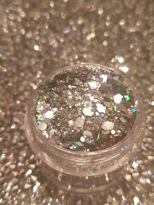 Multicut Silver Glitter Pot