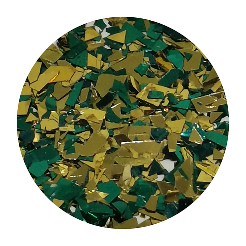 Golden Emerald Glitter Pot