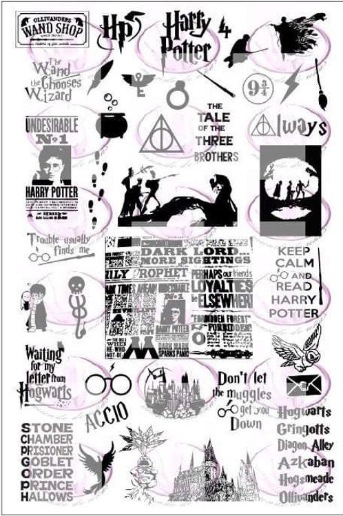 Harry Potter 4 Mundo De U?as Stamping Plate