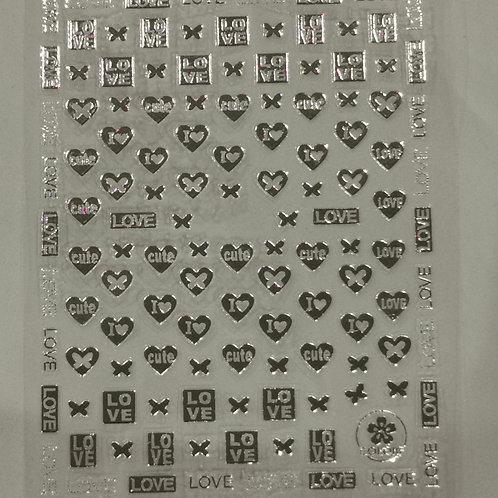 Love Stickers - Silver