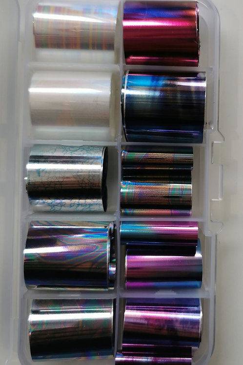 Oil Slick Foil Box