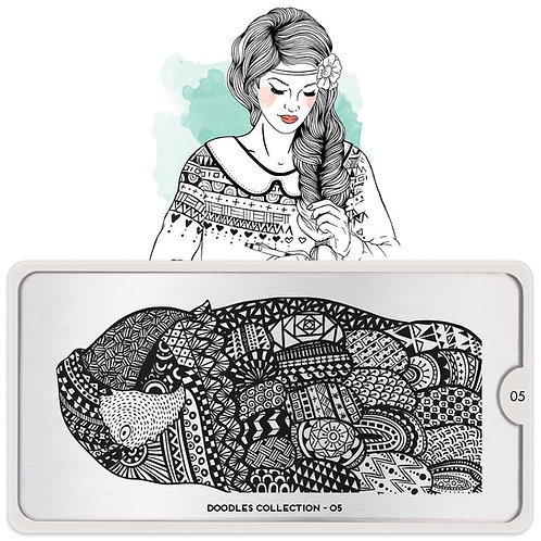 MoYou Stamping Plate - Doodles 05