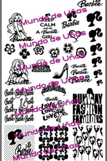 Barbie Mundo De U?as Stamping Plate